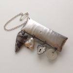 Silver 'Charming Bar' Brooch