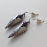 Silver Heart and Fresh Water PearlEarrings