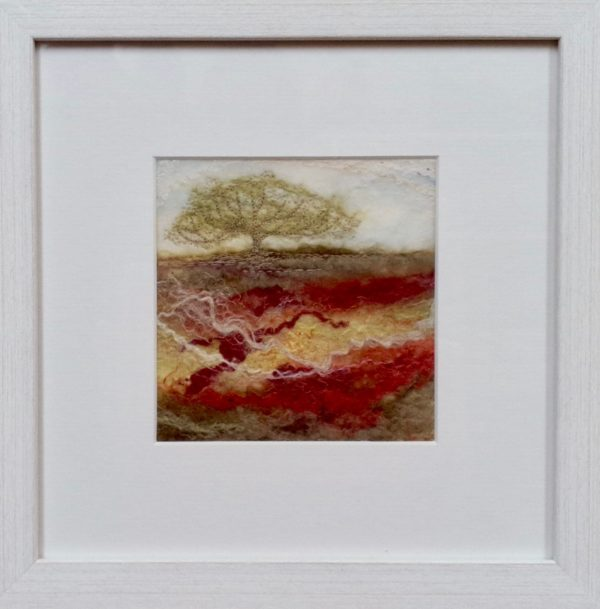 Hand Felted pure wool 'Moorland Tree V'