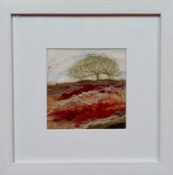Hand Felted pure wool  'Moorland Tree Vl'