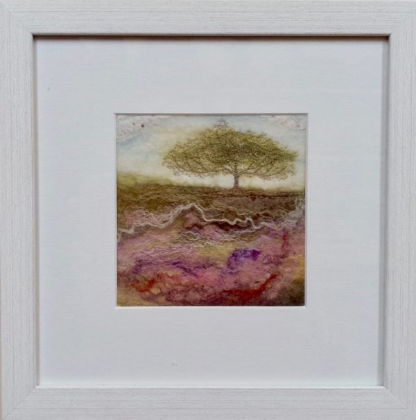 Hand Felted pure wool 'Moorland Tree Vlll'