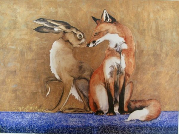 Limited Edition Print The Space Between The Hare and The Fox