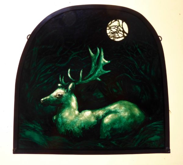 """""""Stained Glass panel White Buck"""""""
