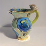Ceramic Rose Handled Jug