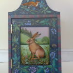Hand painted cupboard 'Spring Hare'