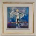 "Original Oil on Board ""Guardian Angel"""