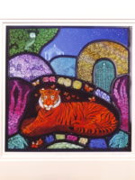 Print of stained glass panel   'Garden Tiger''
