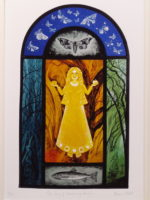 Print of stained glass panel 'The Song of the Wandering Aengus'