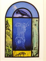 Print of stained glass panel 'The Princess of the Forest''
