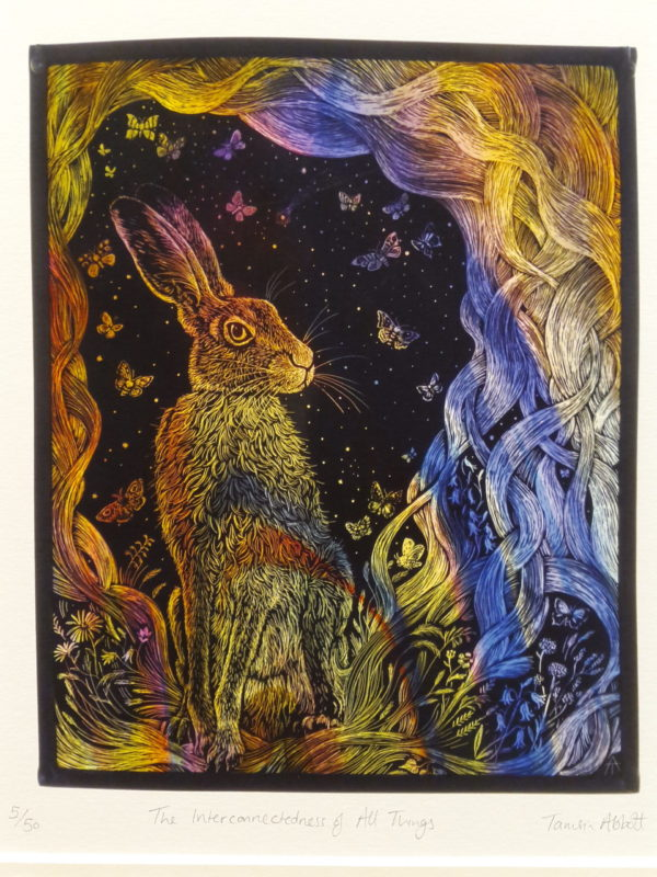Print of stained glass panel 'The Interconnectedness of All Things'