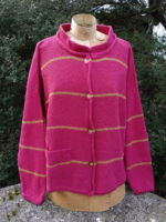 Cardigan 'Mirage' in Cerise/Sap