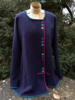 Felted Merino Wool 'Indigo brights multi-button jacket