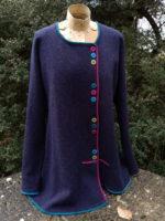 Felted Merino Wool 'Indigo brights multi-button jacket