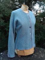 Felted Merino Wool 'Caspian Tab Jacket'