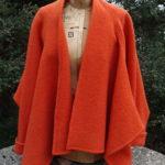 Felted Wool Tokyo Jacket in Orange