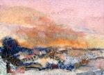 Textile Collage Sunrise Herefordshire