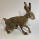 Needle Felted Resting Hare