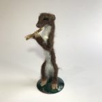Needle Felted  Piping in the Spring Weasel