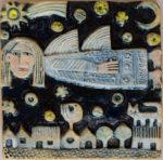 Ceramic Relief Angel