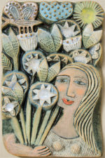 Ceramic Relief A Bunch of Flowers