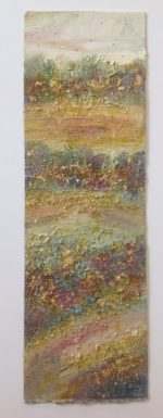 Original Textured Mixed Media with Gold Leaf Dawn