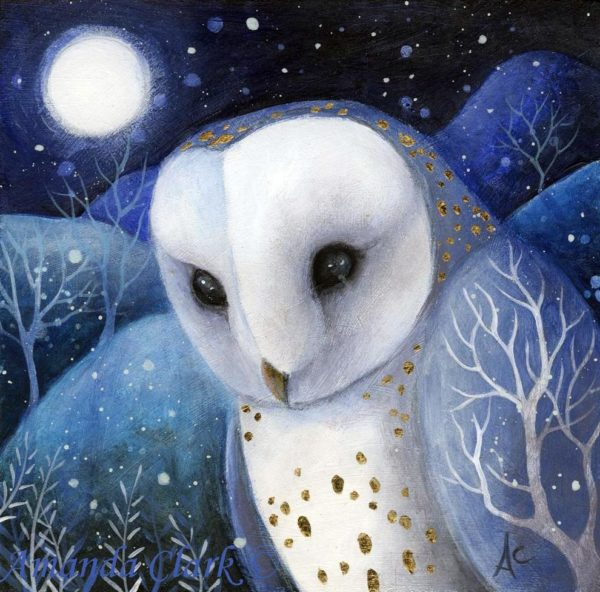 Acrylic on Board Midnight Moon