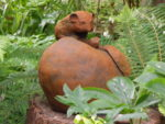 Iron Resin Sculpture 'Bramley Apple with Dormouse'