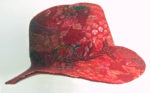 Hand Felted Fedora Red