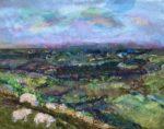 Textile Collage Hay Bluff Landscape