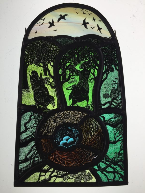 Stained Glass Spring Rookery