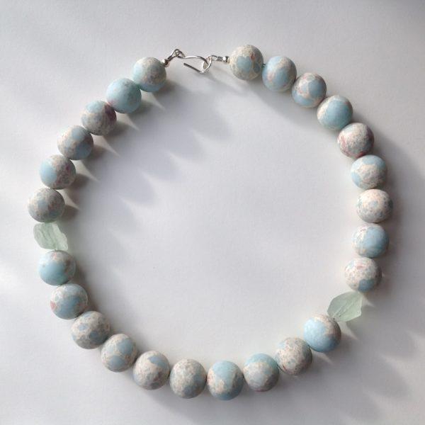 Necklace in Impression Jasper and Fluorite