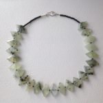 Necklace with Prehnite and Onyx