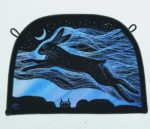 'Oestre Spirit Hare' Stained Glass Panel