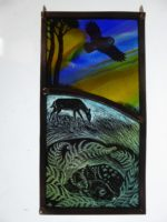 "'""Stained Glass panel  Fawn"""