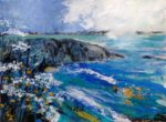 "Acrylic and Charcoal Original painting ""Memories of Caerfai"""