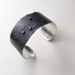 Oxidised Silver cuff with dots