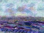 Textile Collage Lavender Field ll