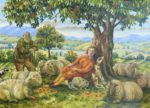 Oil on Canvas Under the Chestnut Tree