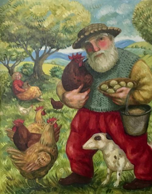 Oil on Canvas -Egg Man