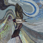 Textile Embroidery 'One Swallow does not a Summer Make'