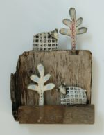 Ceramic and Driftwood 'The Hill'