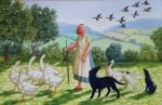 Oil on Canvas The Wild Geese
