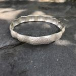 Silver Rustic Hammer Domes Bangle