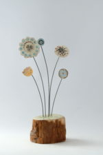Ceramic & driftwood  Meadow Flower Stems ll