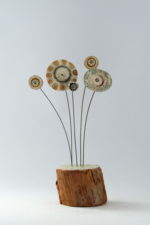 Ceramic & driftwood  Meadow Flower Stems