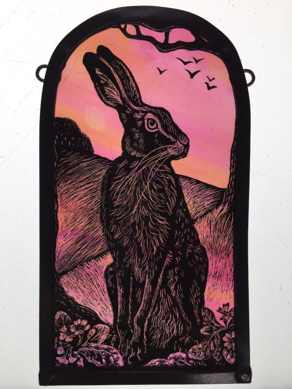 Stained Glass Dawn Hare