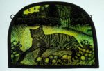 'Dandelion Tabby Stained Glass Panel