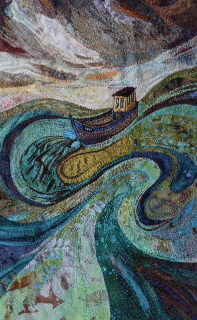 Textile Embroidery 'Making Waves'