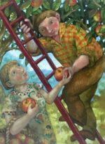 Oil on Canvas Apple Pickers