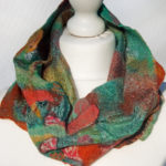 Hand Felted Cowl with Ribbons